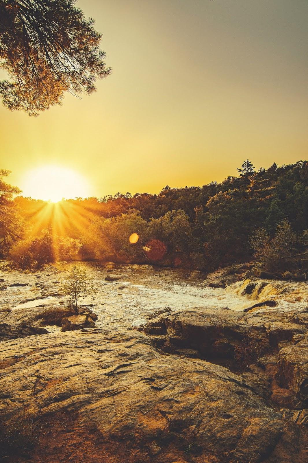 Sunset Evening golden horizon