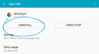 Hapus aplikasi untuk mengatasi insufficient storage available