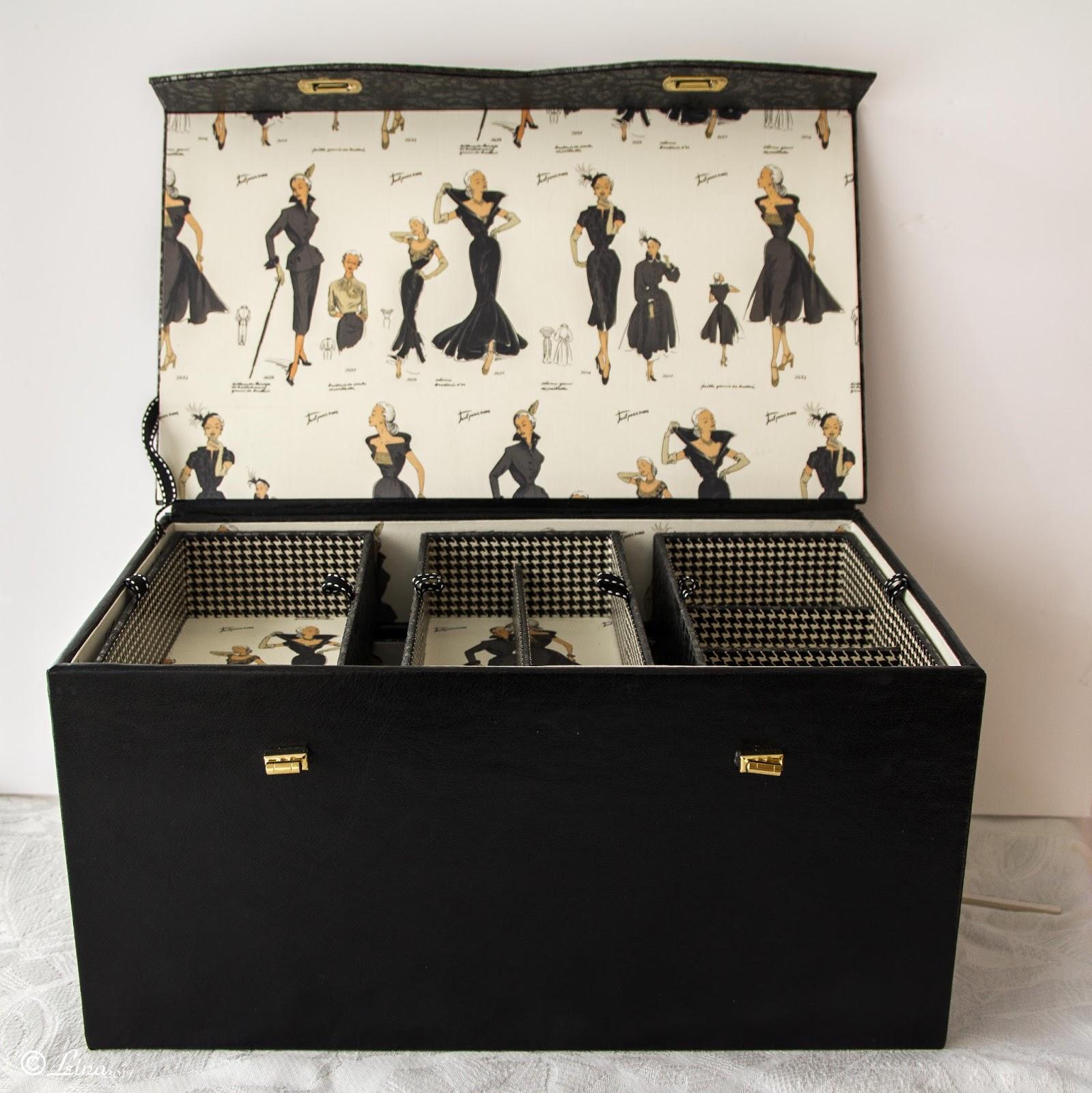 l 39 atelier de leina une nouvelle boite couture en cartonnage. Black Bedroom Furniture Sets. Home Design Ideas