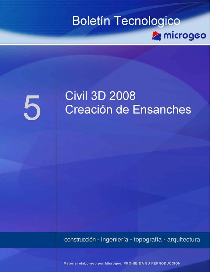 Creación de Ensanches – Autodesk Civil 3D 2008