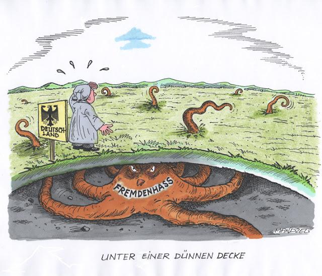 Karikatur von Waldemar Mandzel