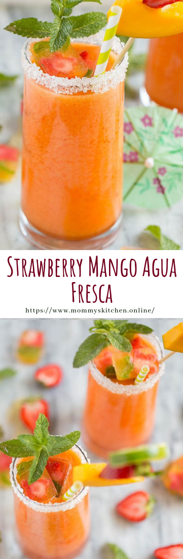 Strawberry Mango Agua Fresca #drinks #recipe