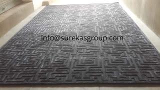luxurious look silk and wool rug