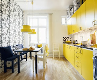 Decorar con amarillo ygris