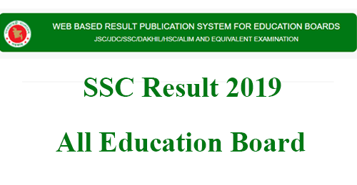 SSC Result 2019 BD Education Board