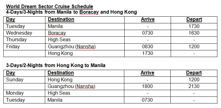 Cruise from Manila with SuperStar Virgo and World Dream In 2018!