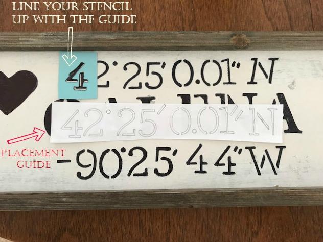 map coordinates stencils
