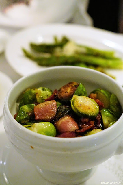 Bacon Fat Roasted Brussels Sprouts at Marliave in Boston