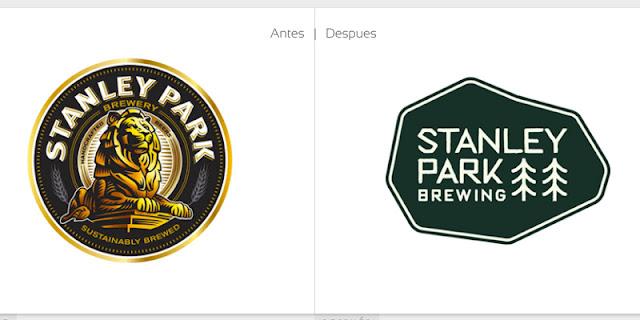 nuevo logotipo y packaging cerveza artesanal Stanley Park Brewing de Vancouver