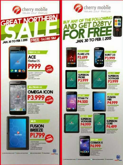 Cherry Mobile SM North EDSA branch sale until February 1