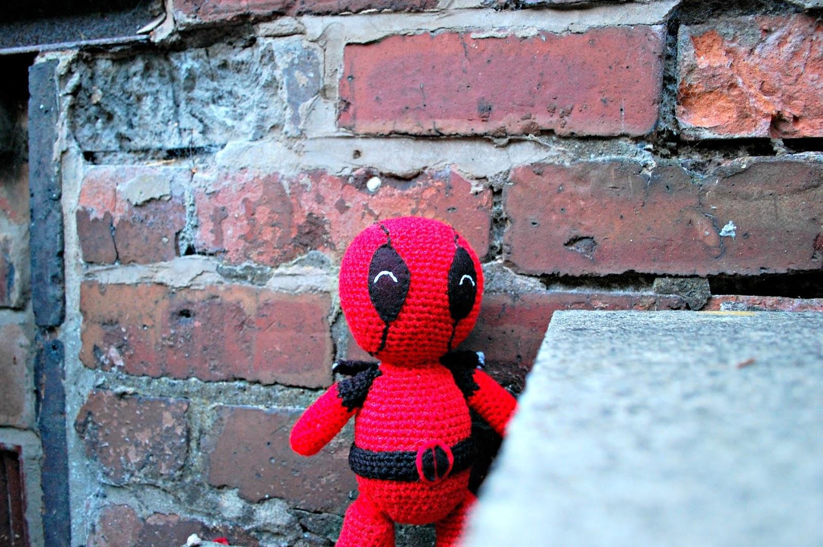 Deadpool Crochet pattern PDF Amigurumi superheroes Comics inspired ... | 1064x1600