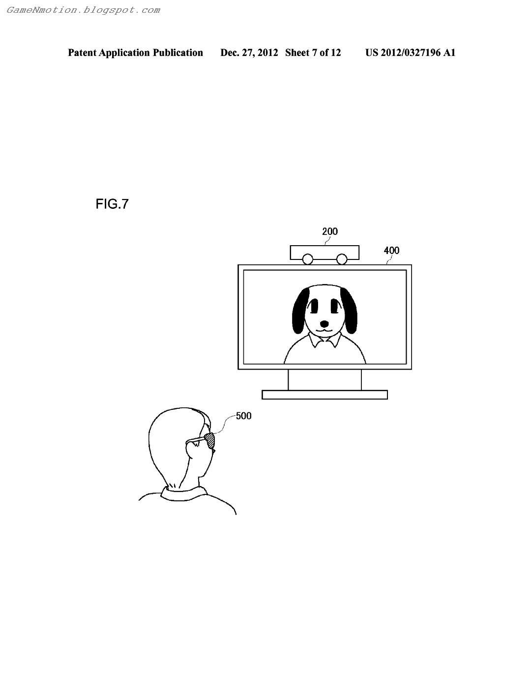 Game N Motion Playstation 4 Dual Playstation Eye Patent