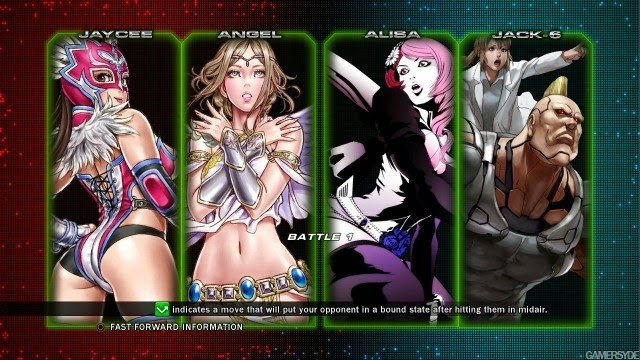 Jaycee, Angel, Alisa, Jack-6, Tekken Tag Tournament 2, Tekken, Matches
