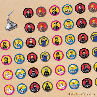 Toppers , Etiquetas o Stickers de Película de Lego para imprimir gratis
