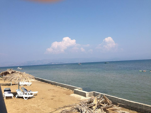 View from the hotel beach in Kavos
