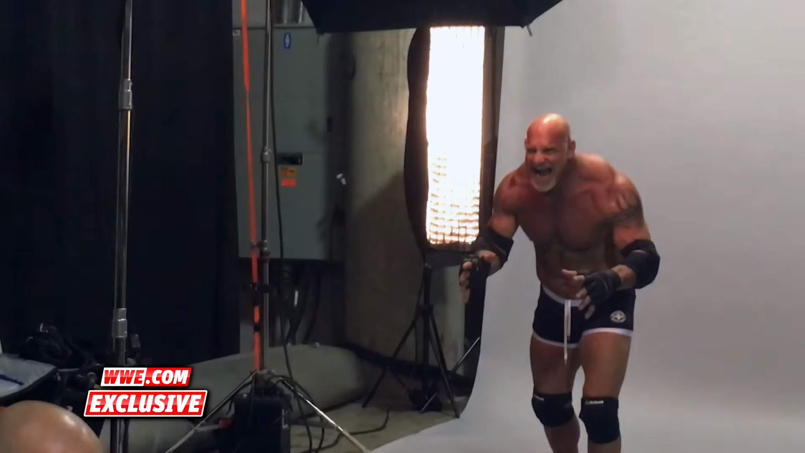 Behind the scenes of Goldberg's first WWE photo shoot in ...