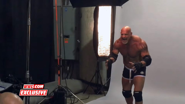 Behind the scenes of Goldberg's first WWE photo shoot in 12 years