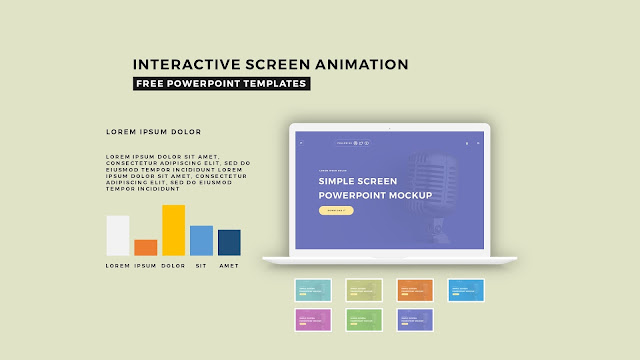 Interactive Screen Animation PowerPoint Template Slide 7