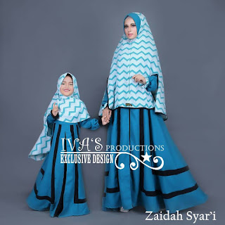 Zaidah Syar'i Mom n Kidz by IVA Biru