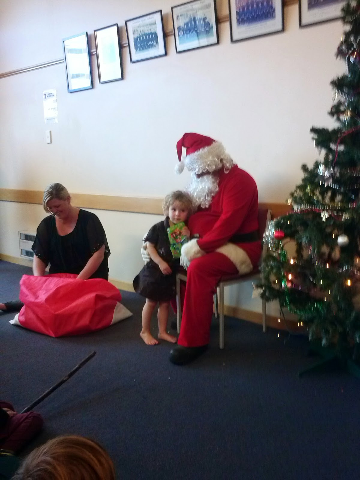 Meeting Santa at the Christmas party
