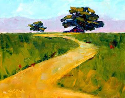 Beneath-the-Cottonwoods-tree-landscape-barn-oil-painting-marybenke