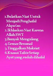 Tips Menghafal AlQur'an