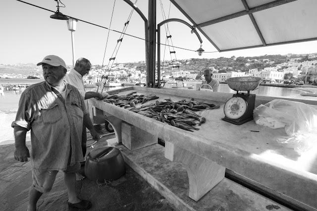 Mercato del pesce-Mykonos town