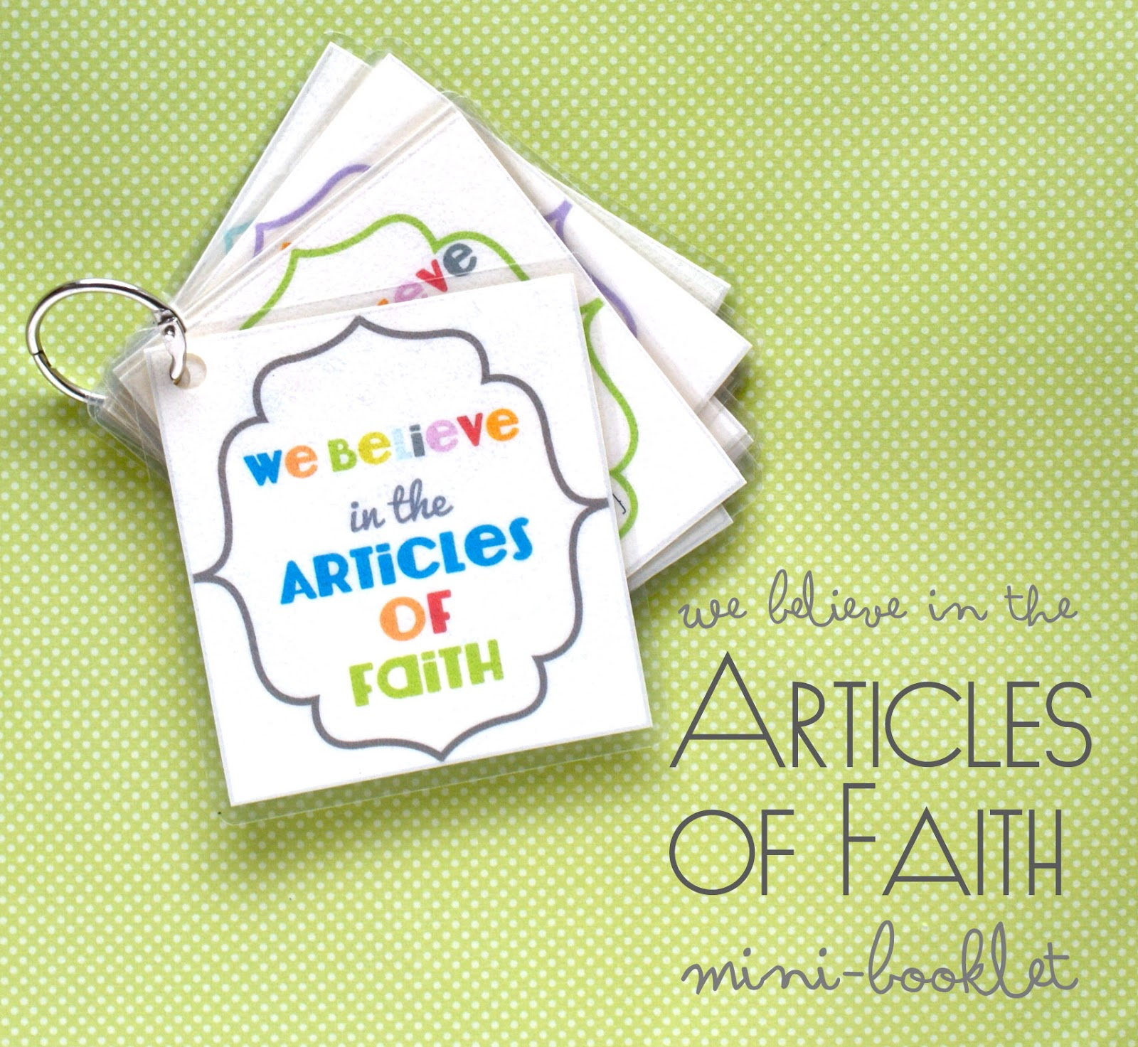 Star Haus Print It We Believe In The Articles Of Faith