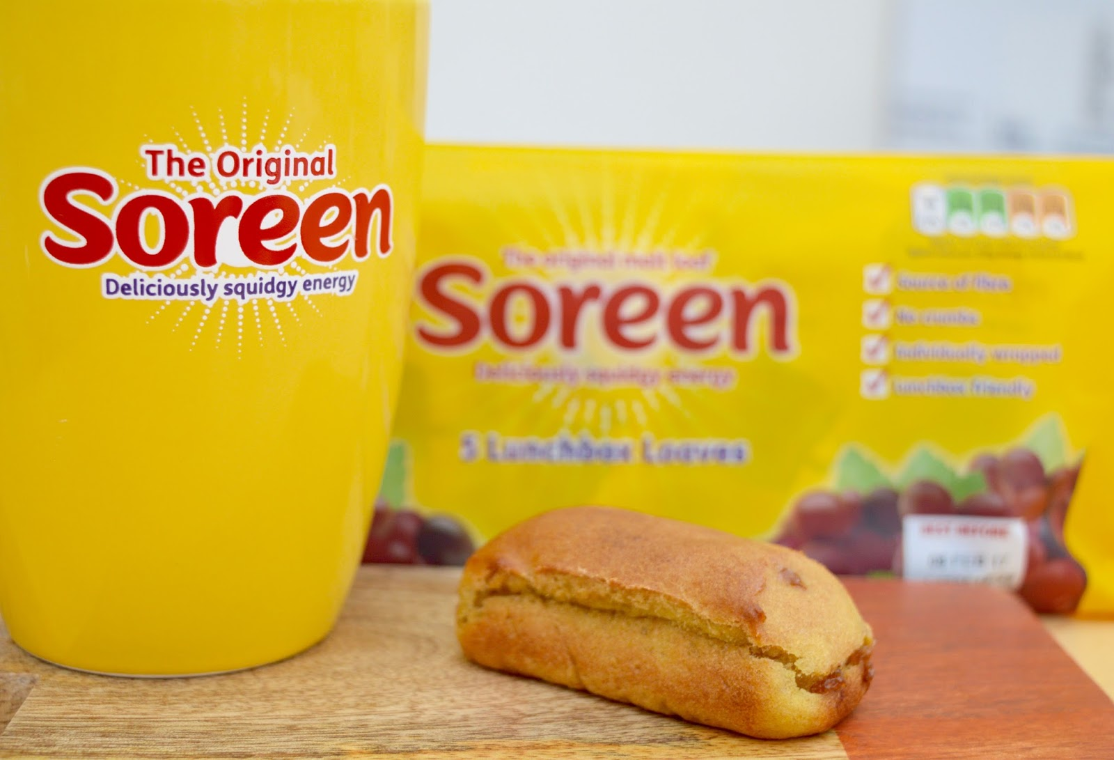 Soreen Lunchbox Loaf Bars | An Ideal Healthy Snack for Kids that is low in saturated fat.  - with coffee