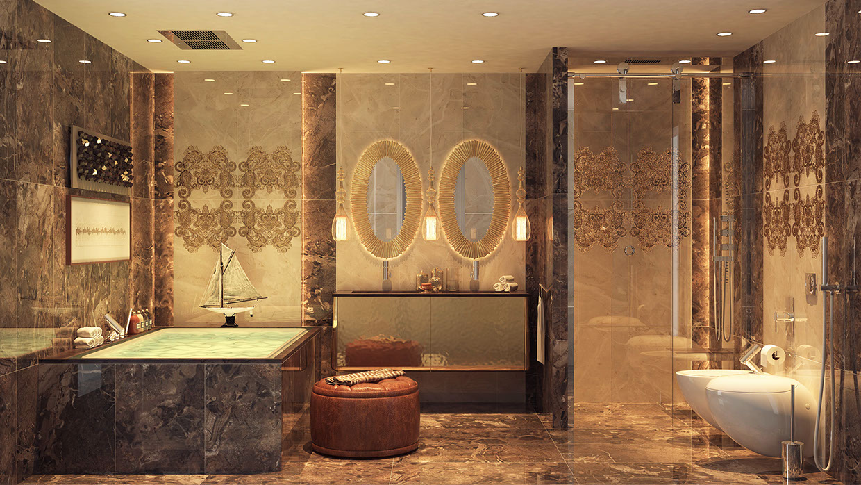 Awesome bathrooms and awesome showers most beautiful for Beautiful houses interior bathrooms