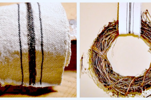 Make Your Own Grain Sack Ribbon