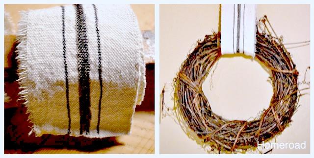 DIY Printed Grain Sack Ribbon