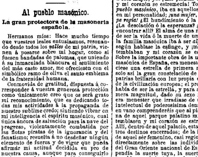 Fragmento del artículo publicado en Las Dominicales