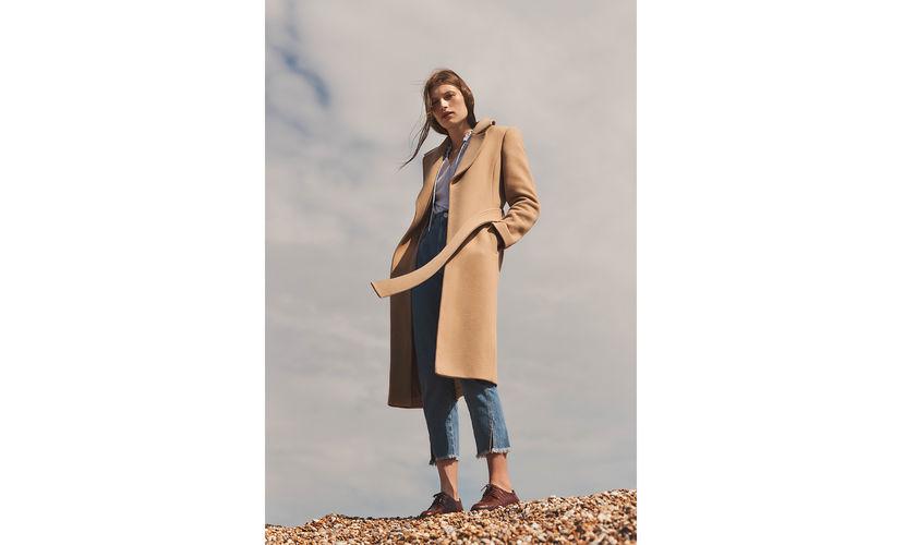 Alexandra Belted Camel Coat