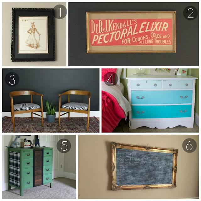 thrifting, midcentury, furniture makeover, painted furniture, antique,