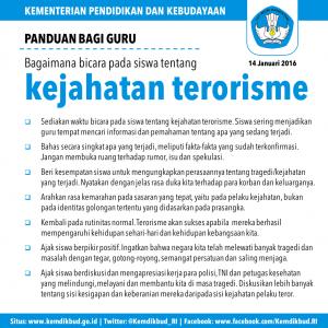 Kemendikbud Terbitkan Panduan Guru dan Orang tua Bicara Tentang Terorisme