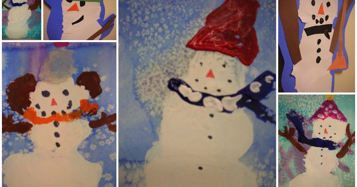 painting craft ideas for preschoolers kindergarten painted snowmen 6997
