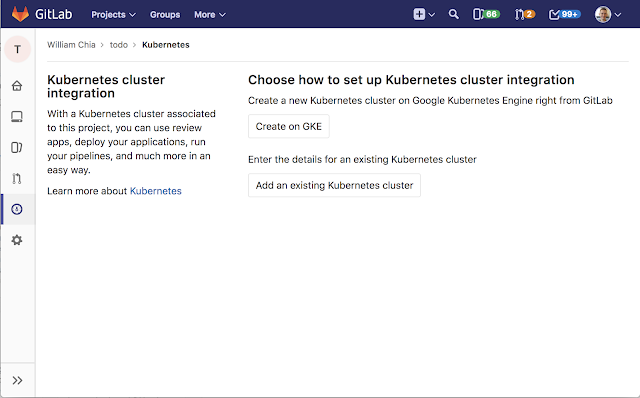 Now, you can deploy to Kubernetes Engine from GitLab with a few clicks