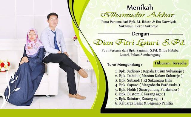 Design Undangan Pernikahan Hijau Keren