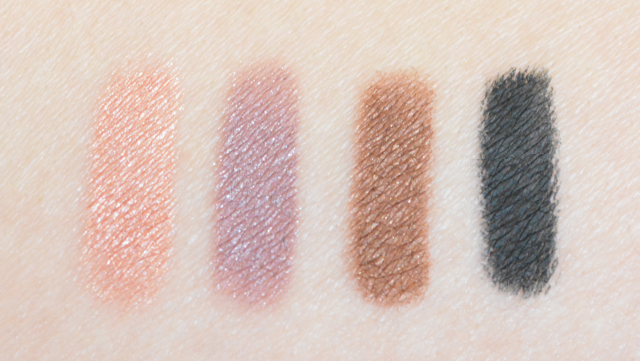 Bourjois colorband eyeshadow and liner swatches