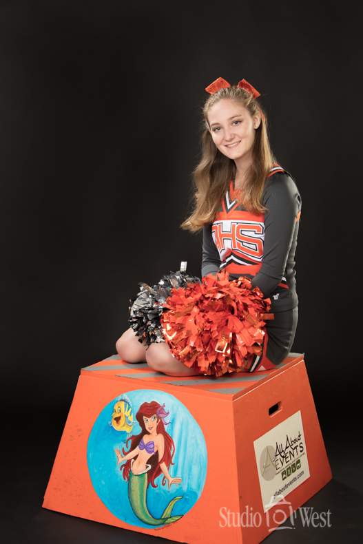 Senior Portrait of Cheer Leader In Studio