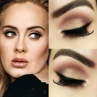 For people's attention to be distracted from your cheeks, make up the eyes. Just give the right color eyeshadow.