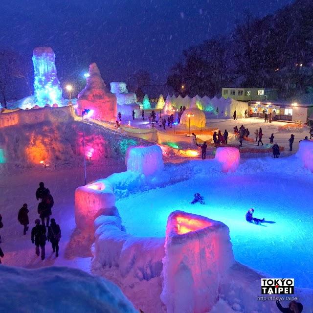 【支笏湖冰濤祭】在冰雪世界把湖水噴射 夜晚七彩魔幻繽紛