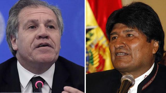 """Almagro le respondió a Evo Morales tras acusarlo de tener """"un plan"""" para """"eliminar a gobiernos antiimperialistas"""""""