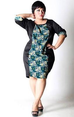 model baju batik wanita gemuk elegan