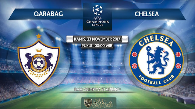 Prediksi Bola : FK Qarabag Vs Chelsea , Kamis 23 November 2017 Pukul 00.00 WIB