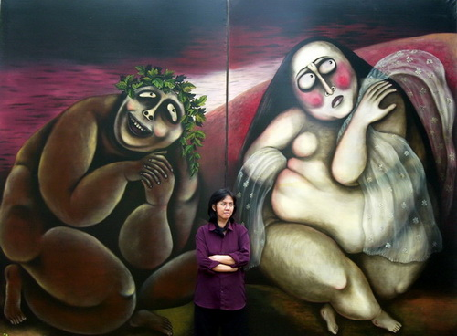 Tinuku.com Favorite female artist Wara Anindyah exhibit 61 paintings at Natan Art Space, Yogyakarta