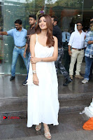 Bollywood Actress Shilpa Shetty Pos in White Gown at The Inauguration Of Shelar Make up Academy  0013.jpg