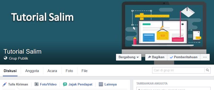 Cara Menambahkan Teman Ke Anggota Grup di Facebook