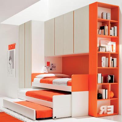 very-cool-designs-for-kids-bedroom-design-with-bright-orange-color-book-shelves-corner-bedroom-furniture-for-kids